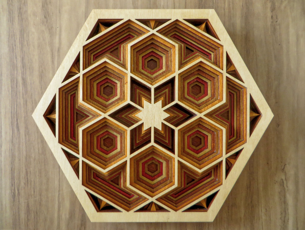 Laser Cut Hexagon Mandala