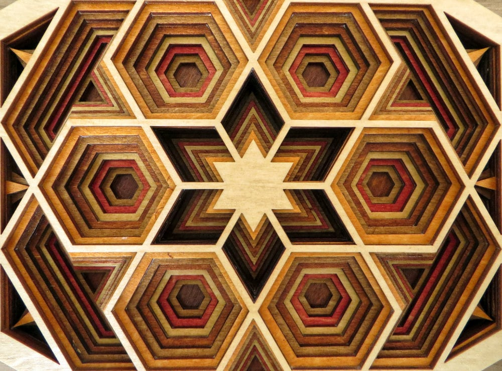 Laser Cut Hexagon Mandala Detail