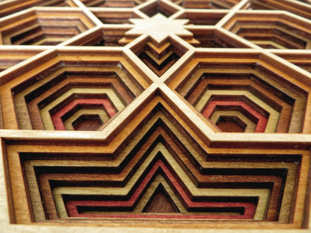 Laser Cut Hexagon Mandala Close Up