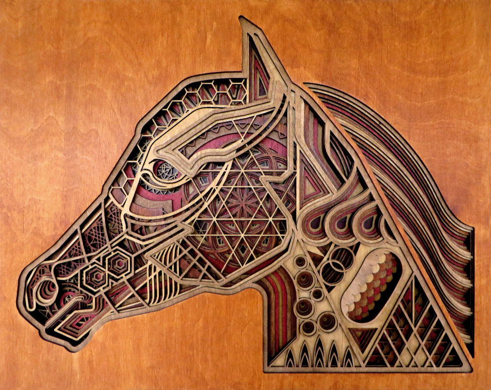 Laser Cut Horse Artwork