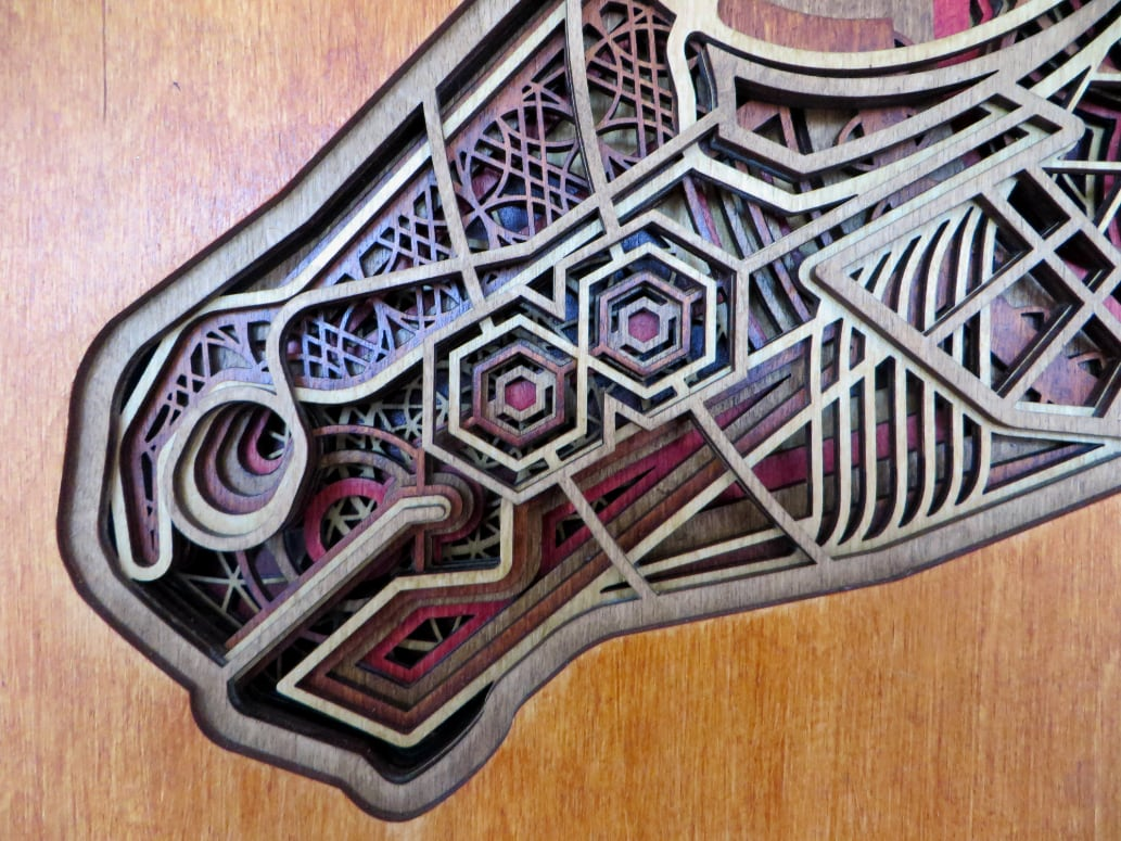 Laser Cut Horse Artwork Detail