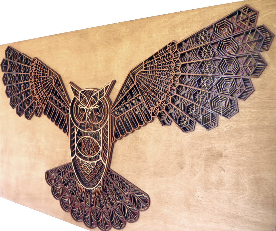 Laser Cut Owl Artwork