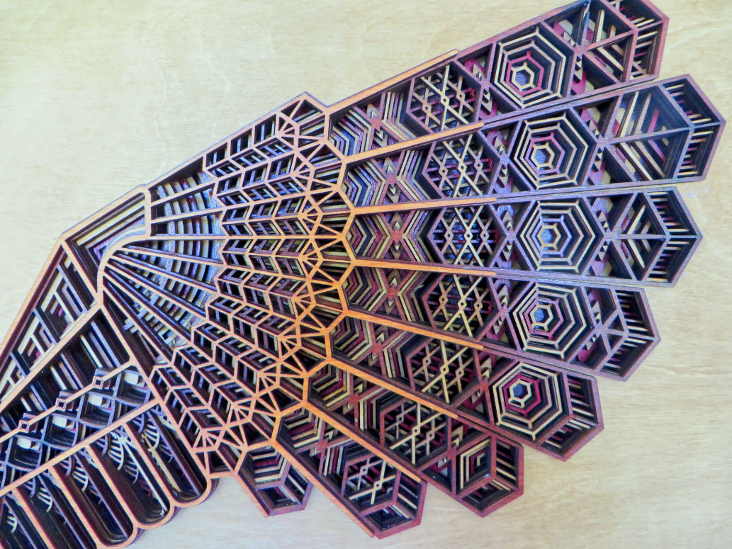 Laser Cut Owl Artwork Wing Detail