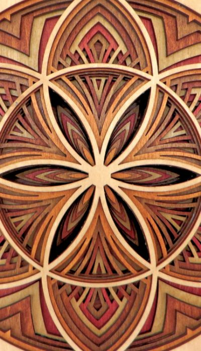 Laser Cut Seed Of Life Mandala Detail