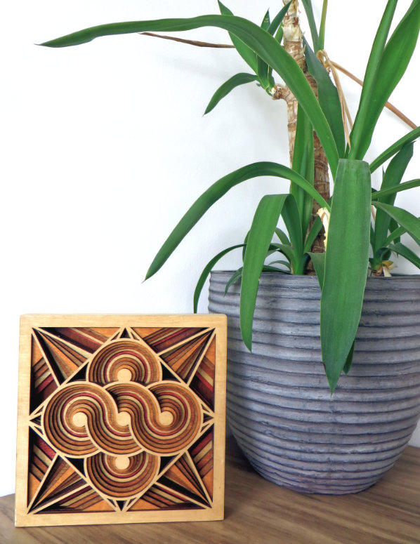 Laser Cut Square Mandala Mock Up