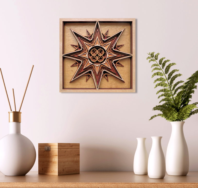 Laser Cut Star Mock Up