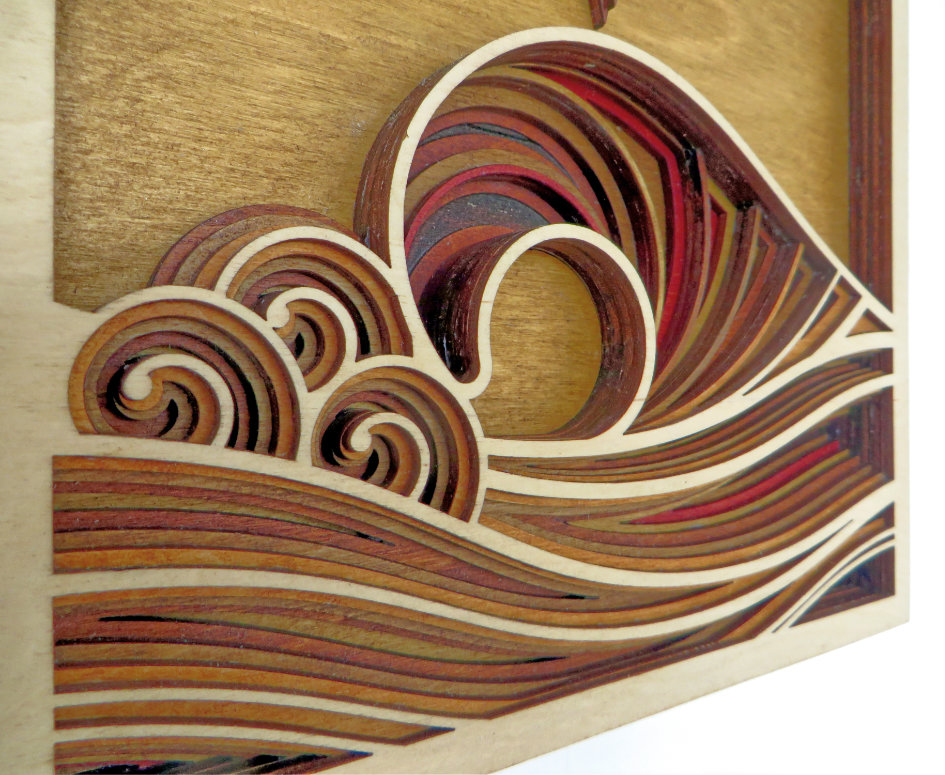 Laser Cut Wave Artwork Detail