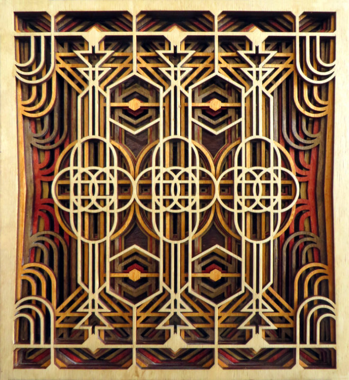 Laser Cut Art Deco Wall Panel