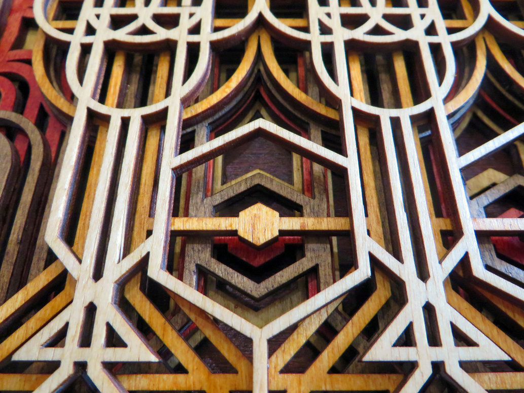 Laser Cut Art Deco Wall Panel Detail