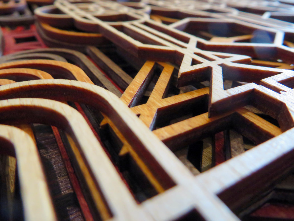Laser Cut Art Deco Wall Panel Close Up