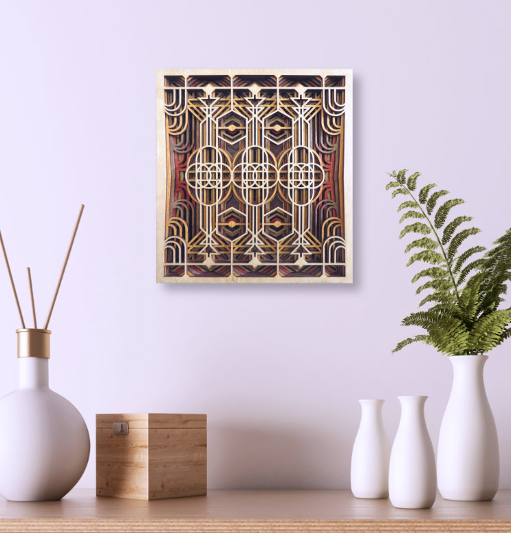 Laser Cut Art Deco Wall Panel Mock Up