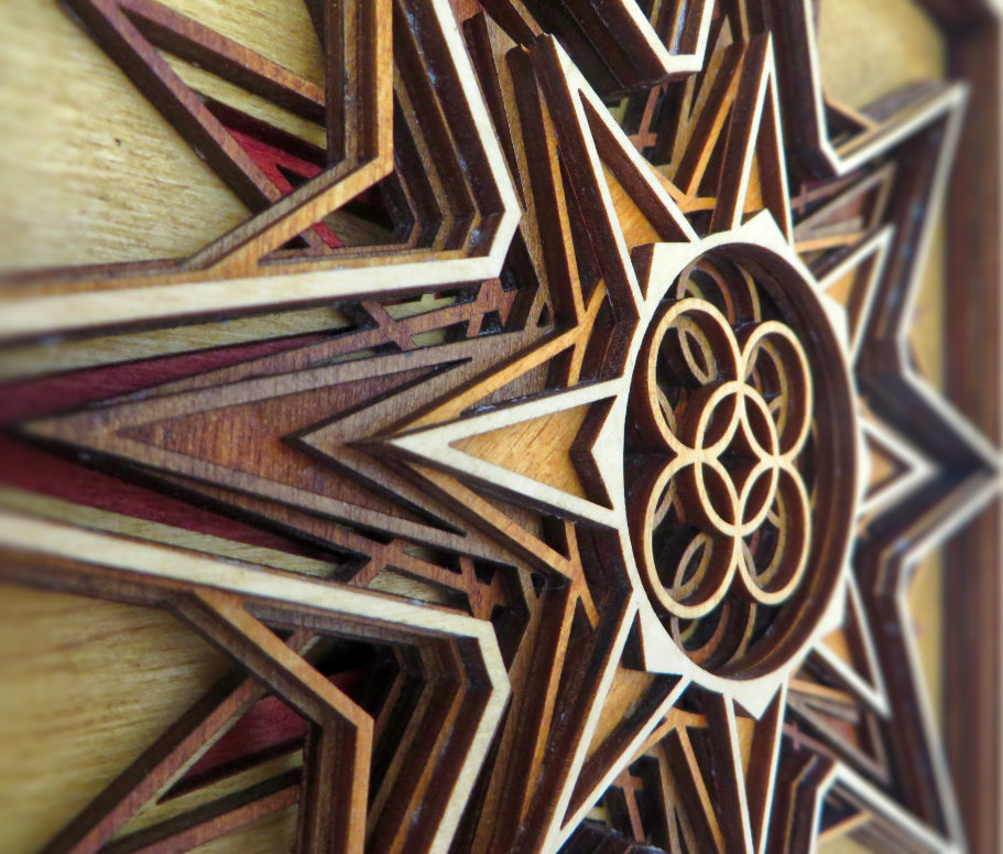 Laser Cut Star Detail
